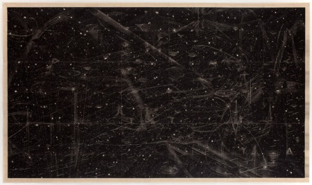 """Marsha Cottrell, 'Under the Illuminating Hydrogen 2012, iron oxide on mulberry paper, 62 x 105"""" (157 x 266.5 cm), http://is.gd/iLlrlR"""