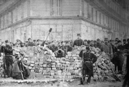 """Barricade on Rue Voltaire, after its capture by the regular army during the Bloody Week (May 1871) of The Paris Commune, a revolutionary socialist government that ruled Paris from 18 March to 28 May 1871; dubbed by our bearded friend Marx, the """"Dictatorship of the proletariat""""   (so informs us, our communal infallible brain Wikipedia.. http://is.gd/w2bVFT )"""