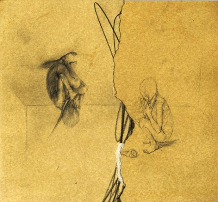 Monika Cichoń, bez tytułu, ołówek, papier; 21 x 23 cm; 2005